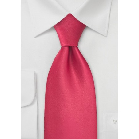 Candy Apple-Red Tie in XL Length