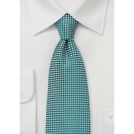 Green and Silver Diamond Tie