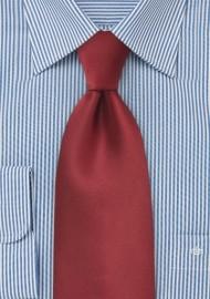 Cranberry Red Tie