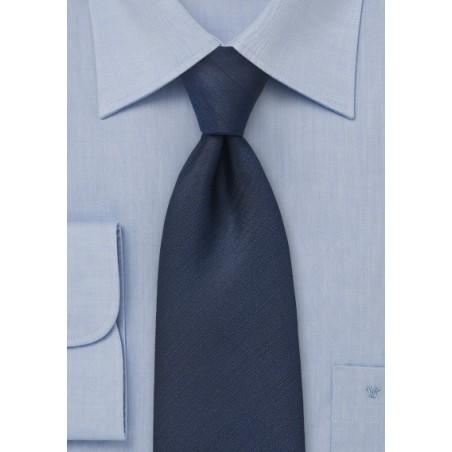 Textured Tie in Navy