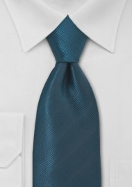 Dark Teal Blue Kids Necktie