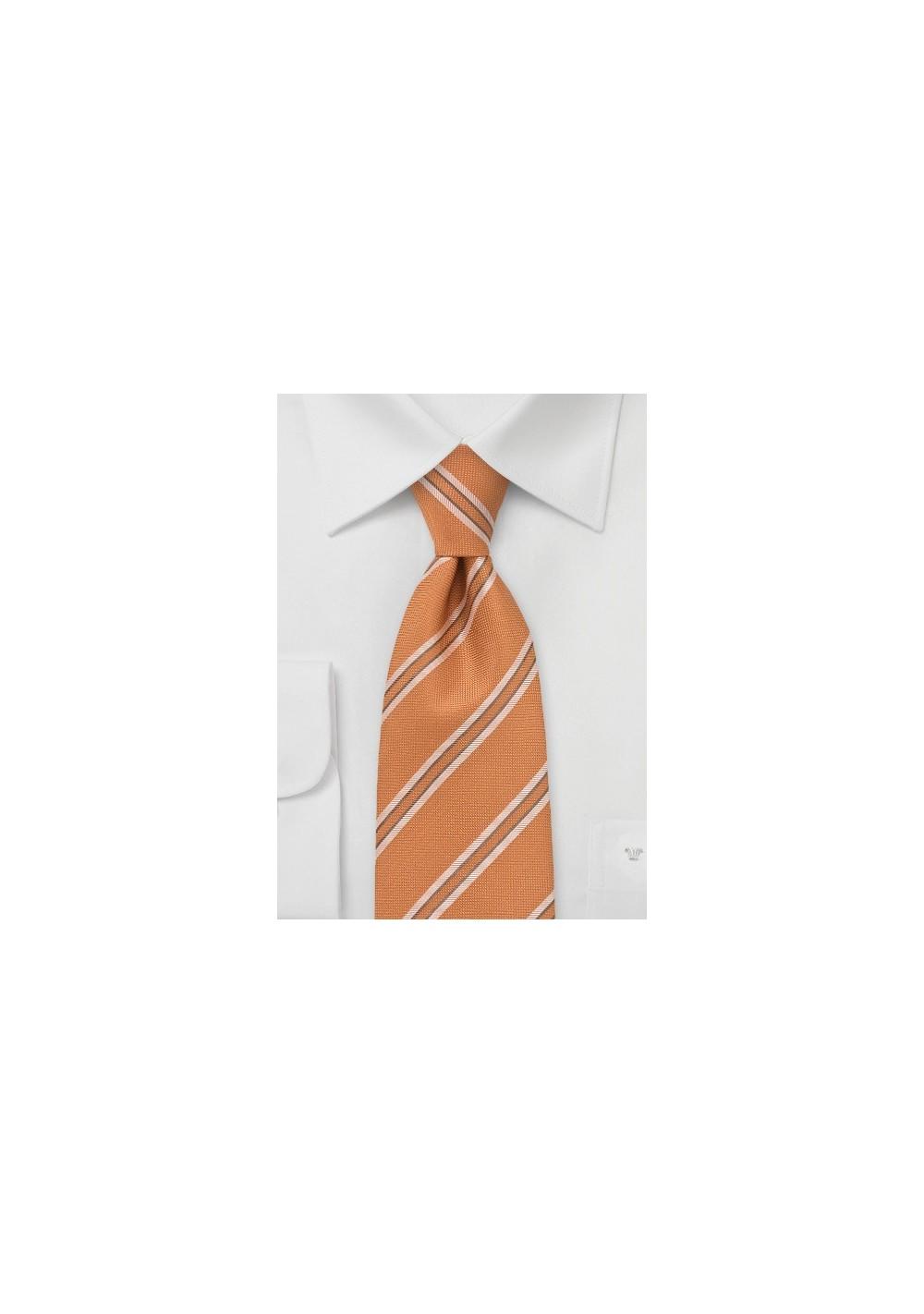 Light Tangerine and Tan Tie