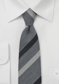 BlackBird Designer Tie in Gray and Black