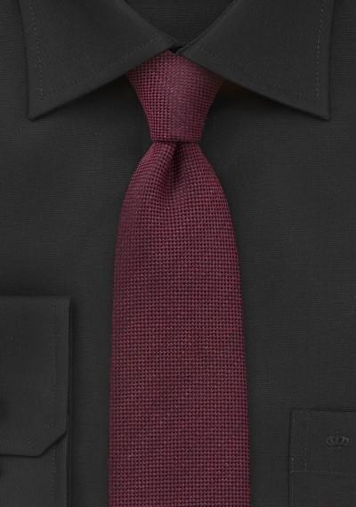 Bordeaux Red Skinny Tie by BlackBird