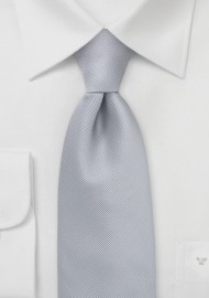 Textured Tie in Platinum