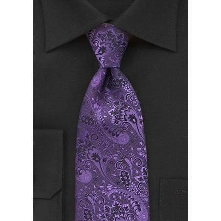 Modern Floral in Purple and Black