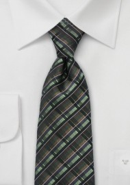 Modern Tie in Autumn Greens