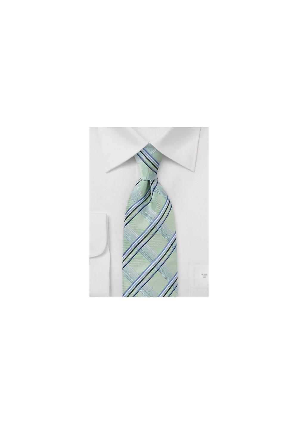 Modern Tie in Wave Crest Green