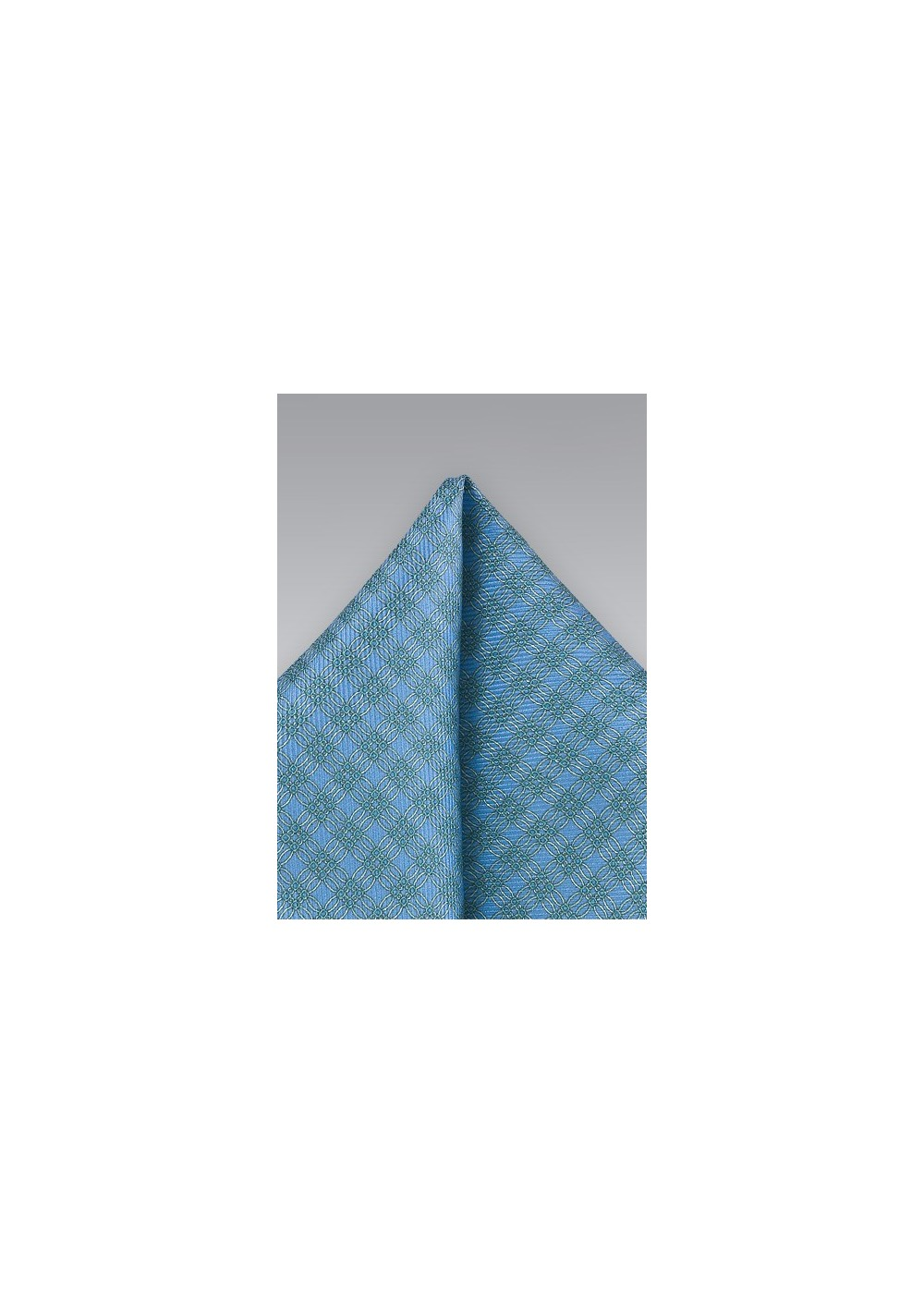 Graphic Pocket Square in Blues and Greens