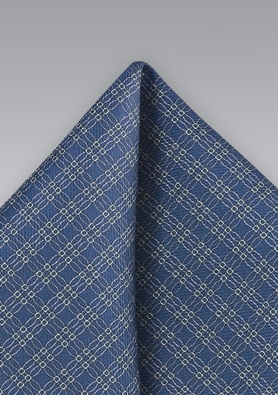 Graphic Pocket Square in Dark Blue and Yellow