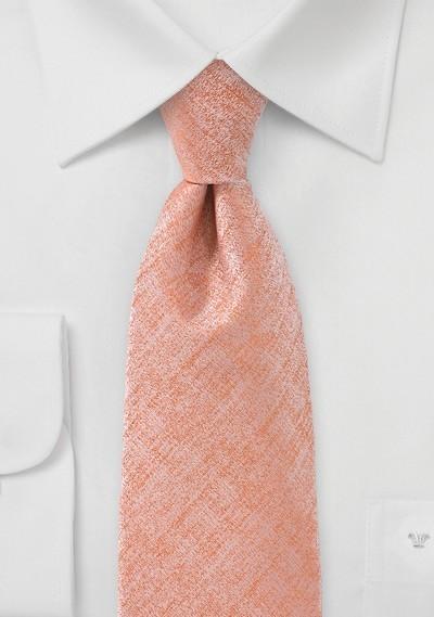 Heathered Peach Colored Tie