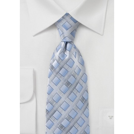 Silver and Blue Diamond Tie