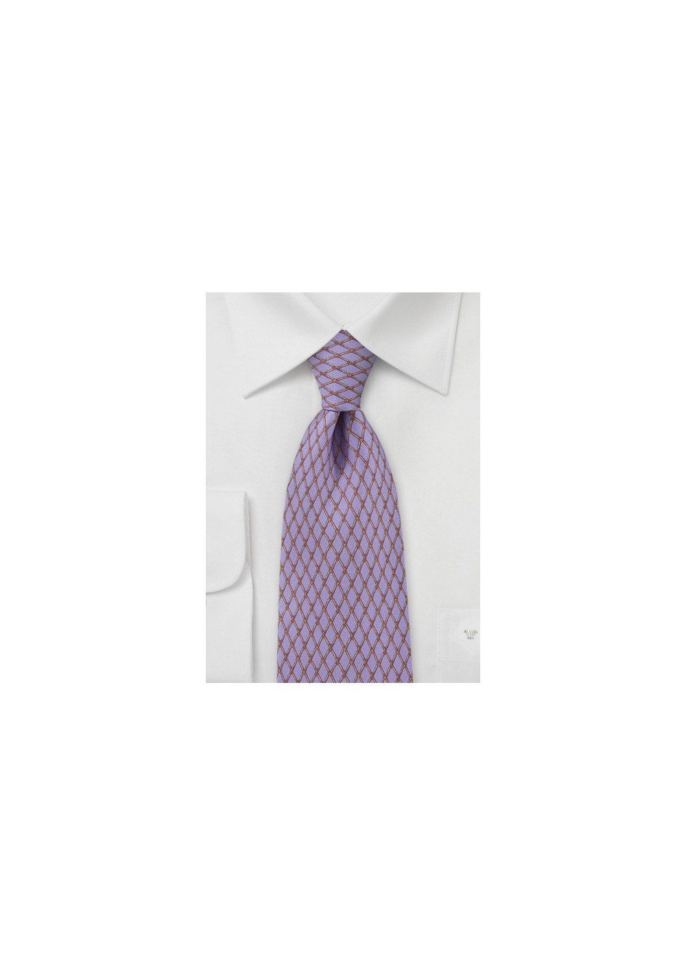 Lilac And Bronze Tie