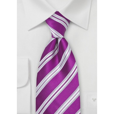 Bright Purple Silk Tie in Extra Long Length