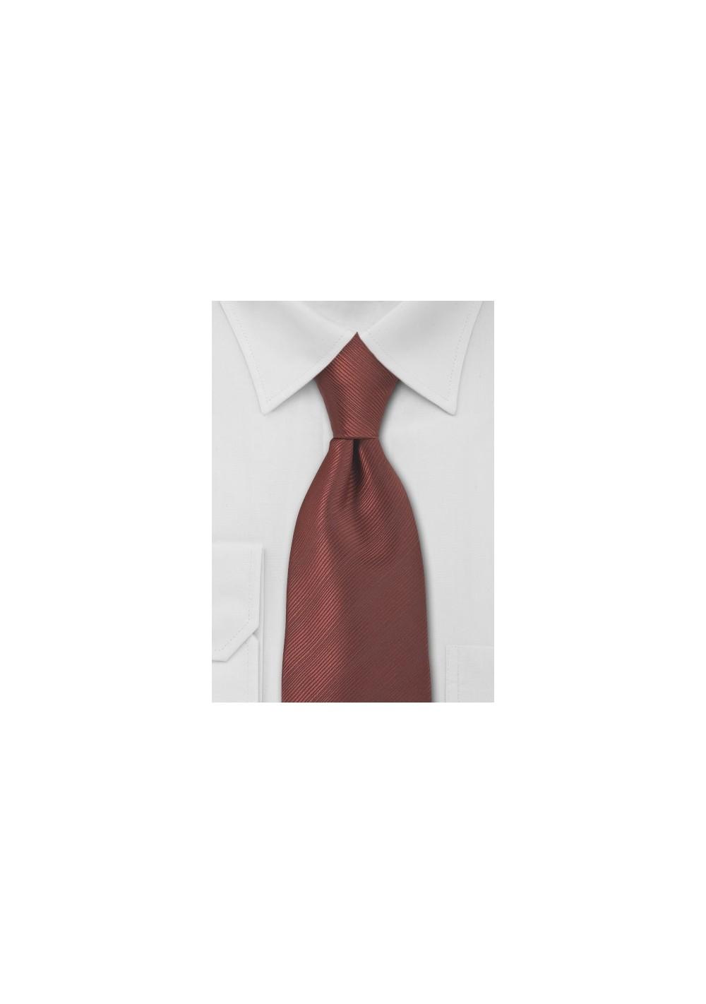 Bronze Red Necktie in Extra Long Length