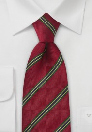 XL Regimental Tie in Vivid Red