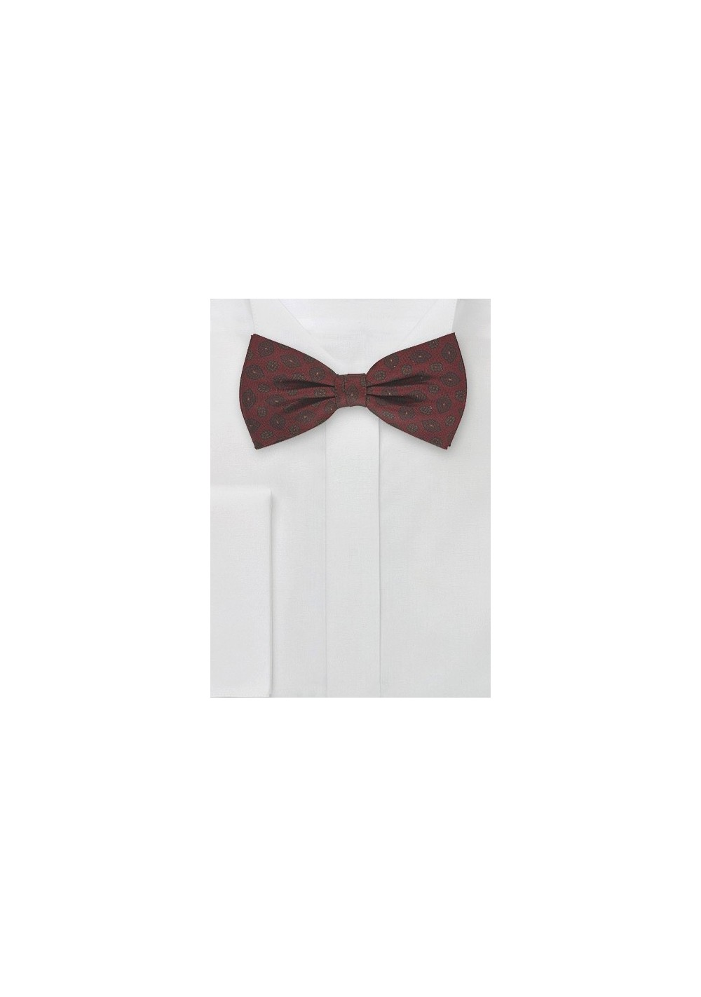 Mens Bow Tie in Burgundy Reds
