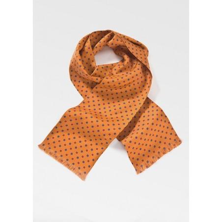 Punchy Silk Scarf in Tangerine Orange