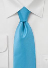 Solid Color Tie in Mermaid Blue