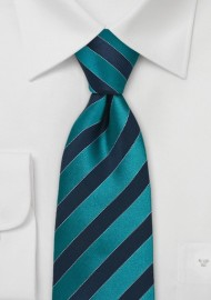 Teal and Royal Blue Kids Tie