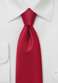 Mens Brilliantly Red Necktie
