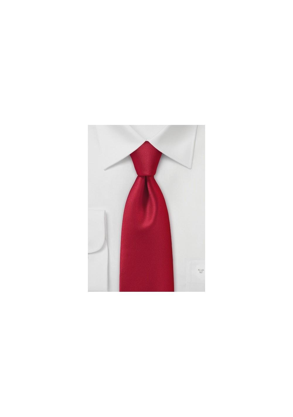 Mens Brilliantly Red Necktie