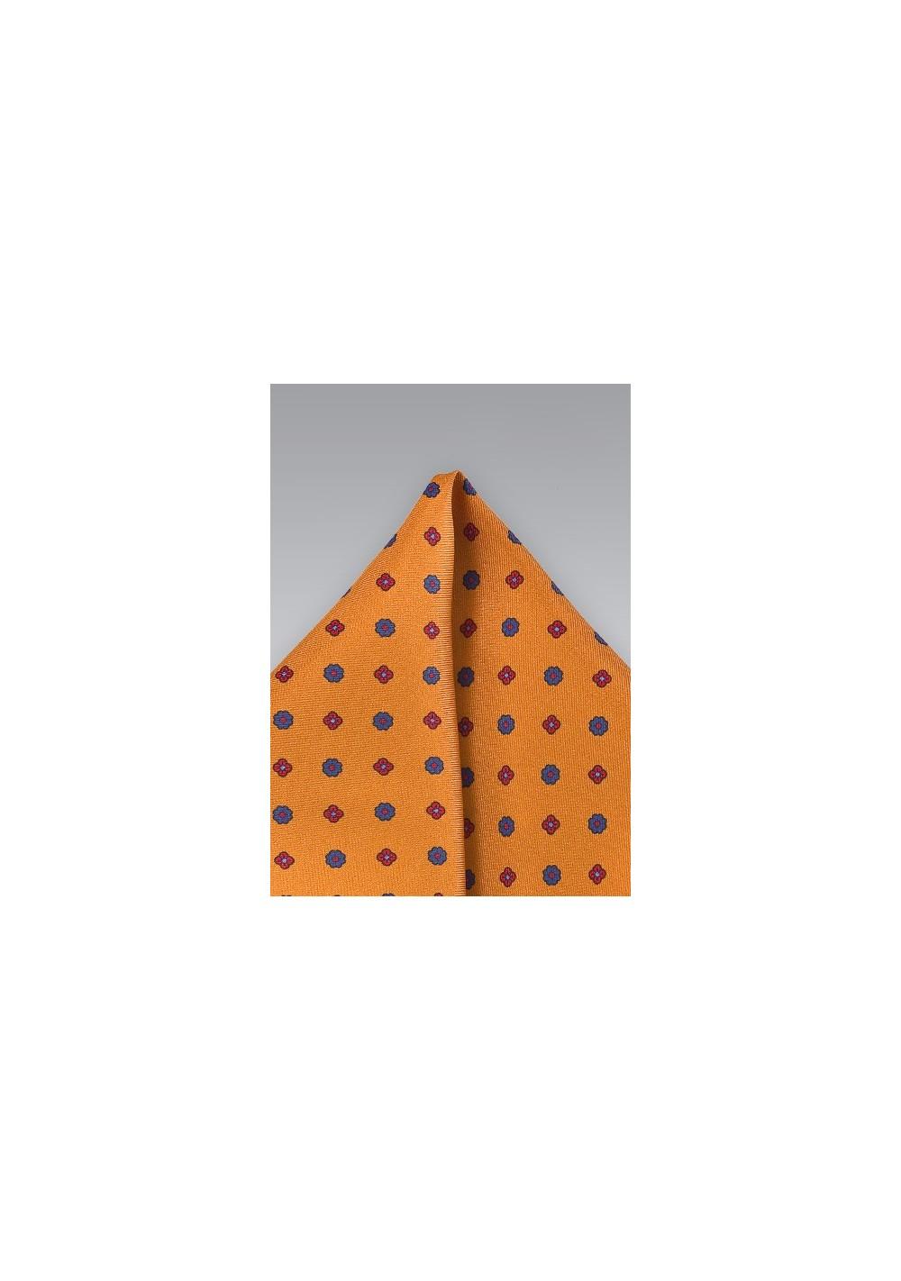 Classic Burnt Orange Pocket Square