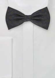 Silk Bow Tie in Dark Blue