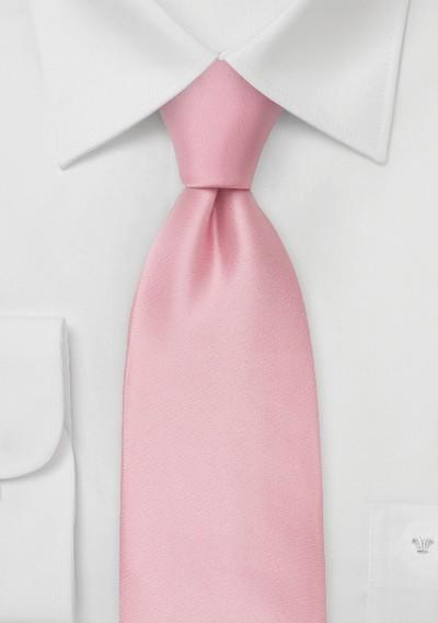 Light Pink Silk Necktie in Kids Size