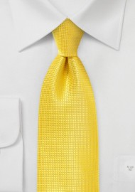 Art Deco Tie in Primary Yellow