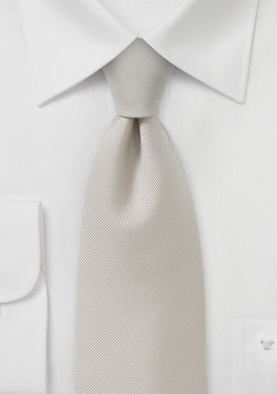 Textured Tie in a Soft Wheat