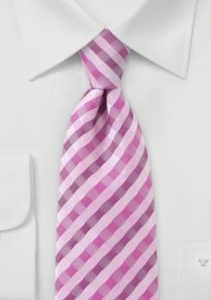 Spring Pink Check Tie