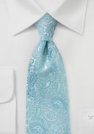 Art Deco Paisley in Cool Blues and Silvers