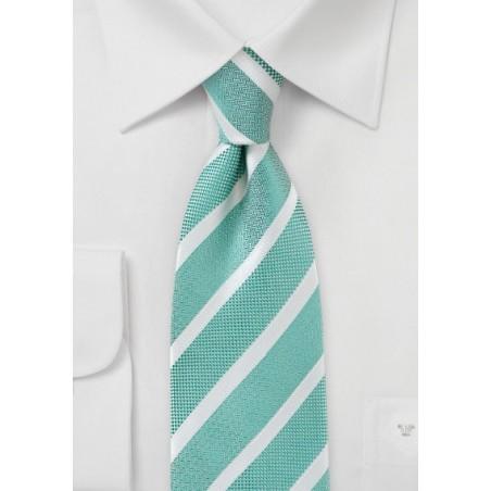 Jade Green Detailed Necktie