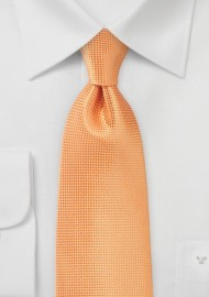 Textured Tie in Tangerine