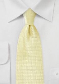 Textured Tie in Citrine Yellow