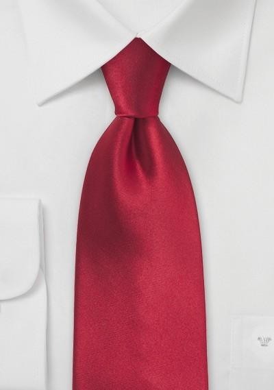 Kids Tie in Cherry Red