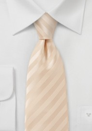 Handmade White Peach Toned Neck Tie