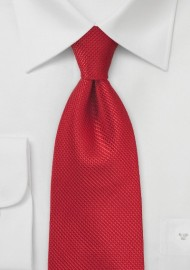 Solid Cherry Red Tie made of Pure Silk