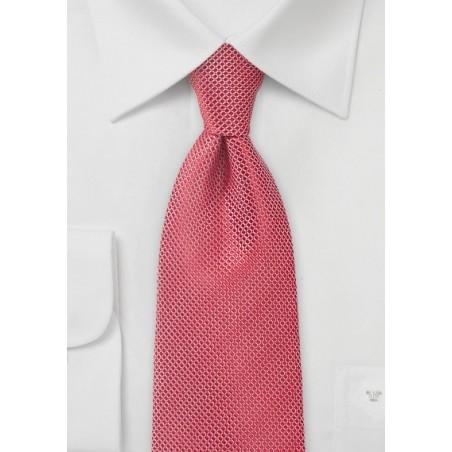 Bright Poppy Red Textured Tie