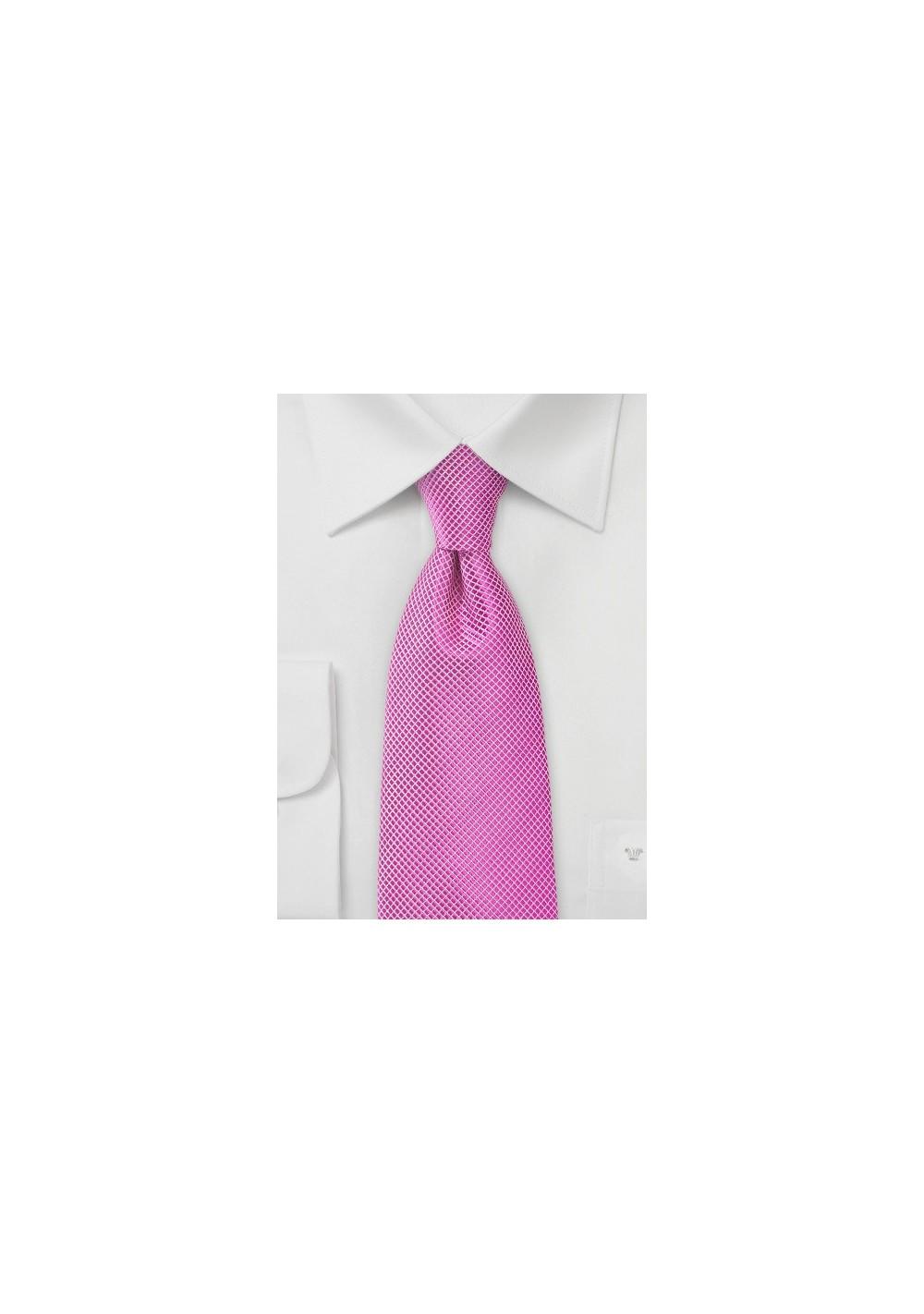 Orchid Pink Men's Tie