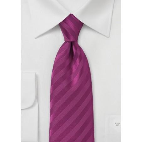 Narrow Solid Hued Sugar Plum Tie