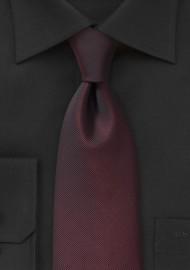 Edgy Monochromatic Oxblood Necktie