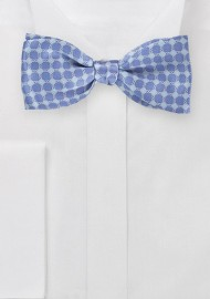 Art Deco Patterned Bow Tie in Blues