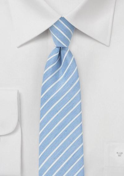 Cornflower Blue Linen Tie