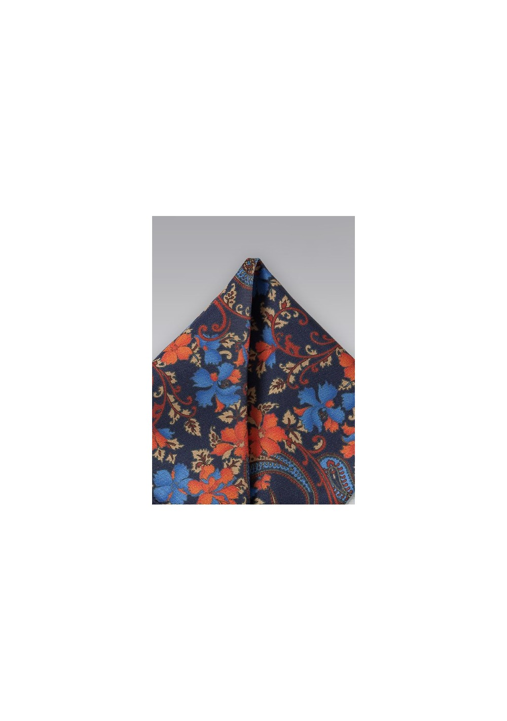 Vintage Floral Pocket Square