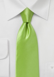 Bright Clover Green Necktie in Pure Italian Silk