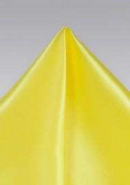 Bright Sun Yellow Pocket Square in Silk