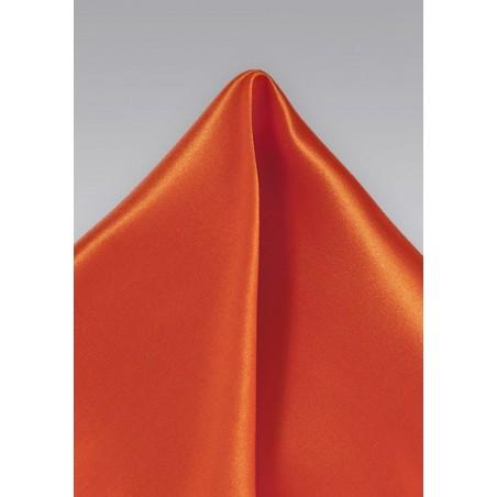 Pure Thai Silk Pocket Square in Tangerine