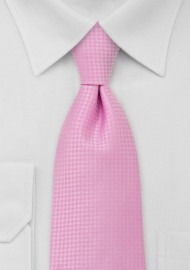 Light Pink Mens Necktie in XL Length